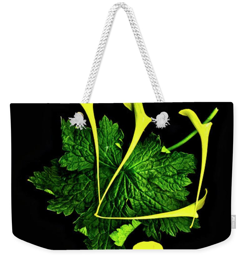 Shin Weekender Tote Bag featuring the digital art Shin - First Hebrew Letter Of Shalom by Sterling Haidt