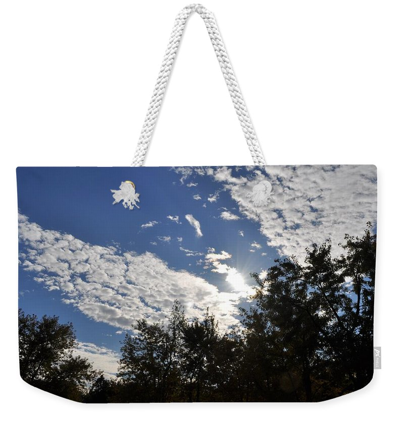 Sunny Sky Weekender Tote Bag featuring the photograph Shine And Smile by Georgeta Blanaru
