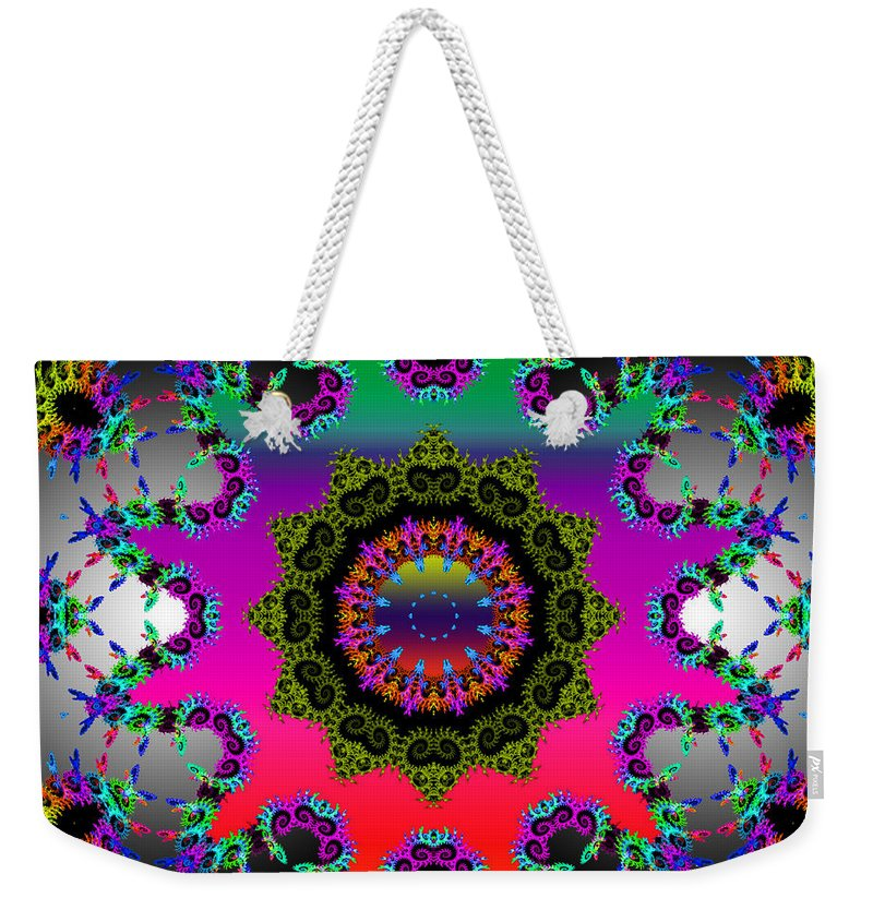 Flower Weekender Tote Bag featuring the mixed media Shine On by Robert Orinski