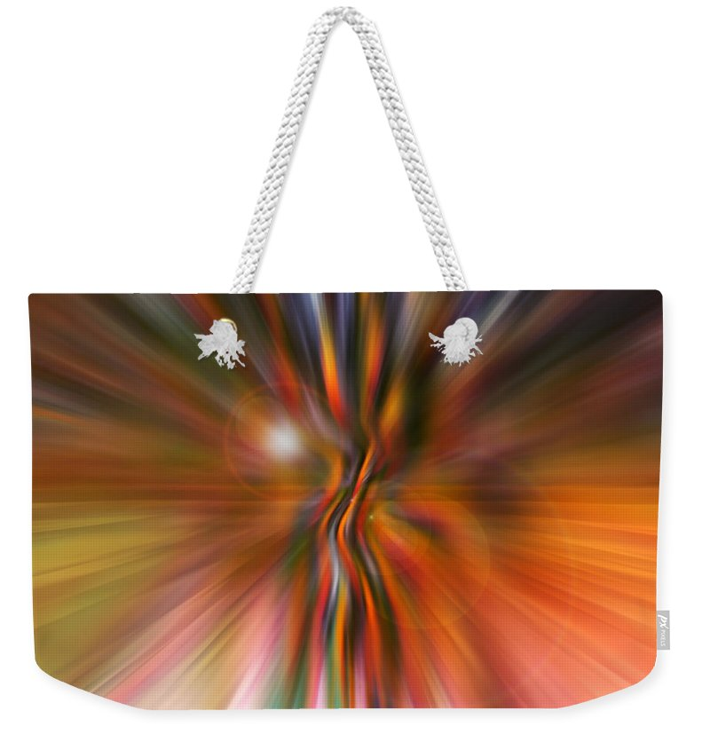 Abstract Art Weekender Tote Bag featuring the digital art Shine On by Linda Sannuti