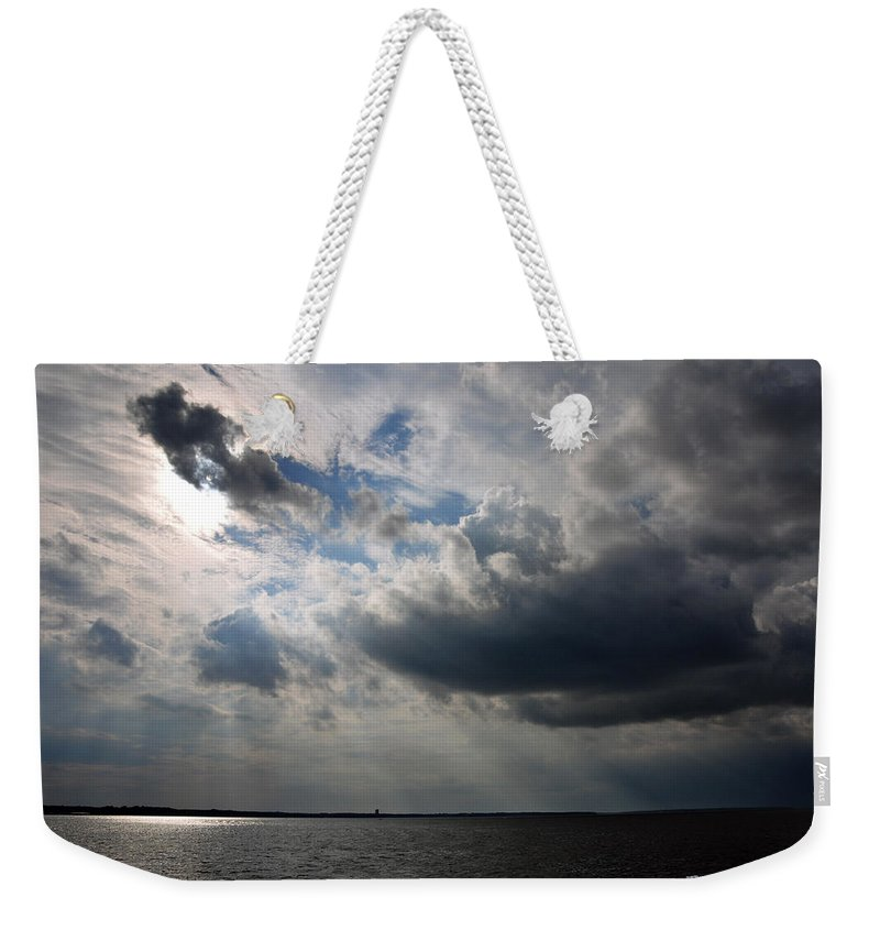 Landscape Weekender Tote Bag featuring the photograph Shining Through by Terry Anderson