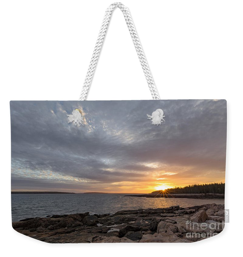 Acadia National Park Weekender Tote Bag featuring the photograph Ship Harbor by Richard Sandford