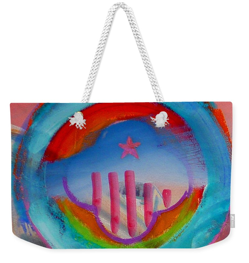 Logo Weekender Tote Bag featuring the painting Ship Of State by Charles Stuart