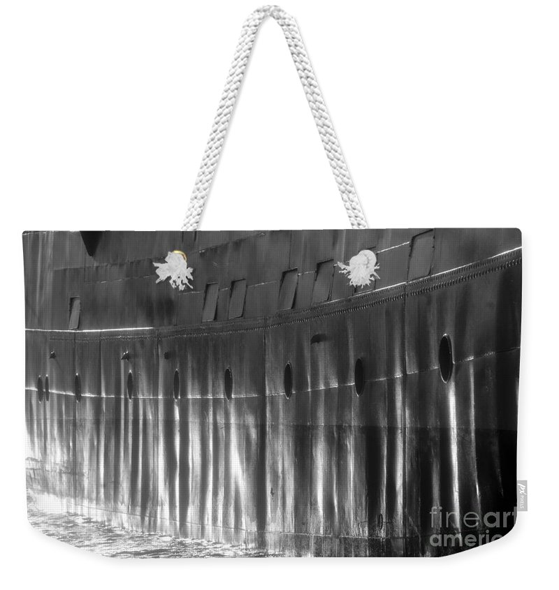 Ship Weekender Tote Bag featuring the photograph Ship Side by David Lee Thompson