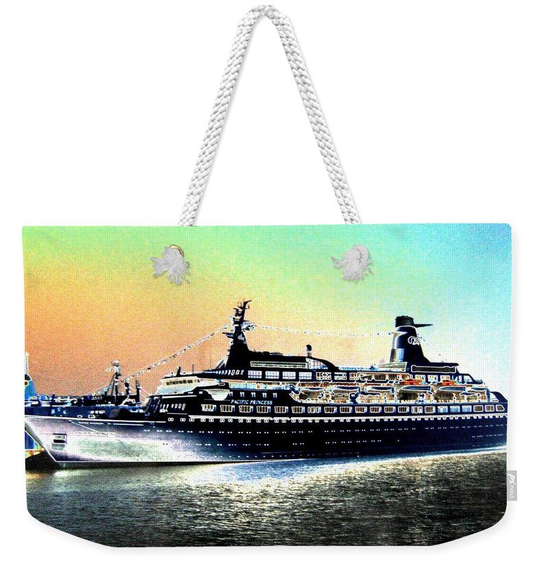 Photo Design Weekender Tote Bag featuring the digital art Shipshape 1 by Will Borden