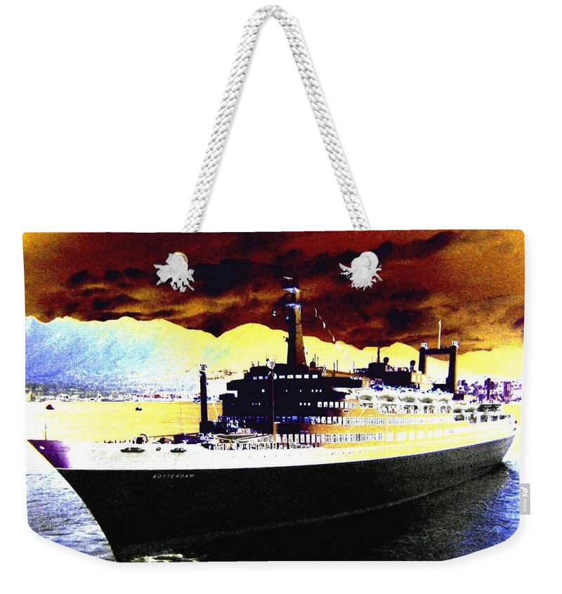 S S Rotterdam Weekender Tote Bag featuring the digital art Shipshape 3 by Will Borden