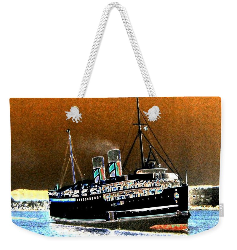 Princess Marguerite Weekender Tote Bag featuring the digital art Shipshape 4 by Will Borden