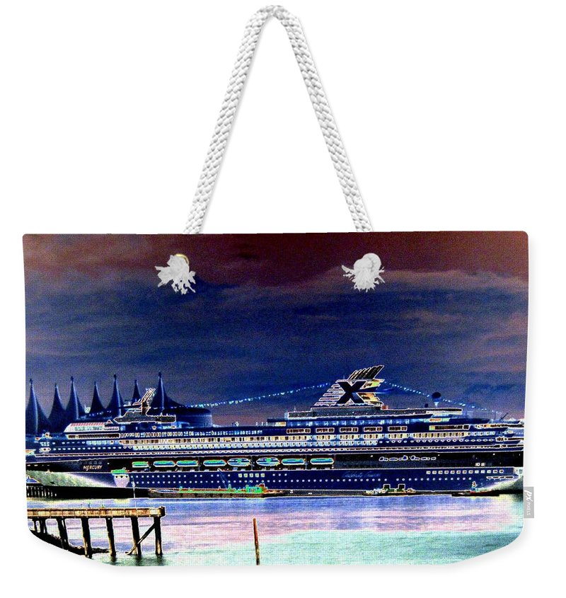 Mercury Weekender Tote Bag featuring the digital art Shipshape 5 by Will Borden