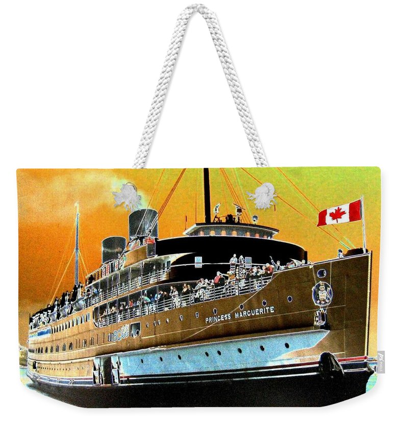 Princess Marguerite Weekender Tote Bag featuring the digital art Shipshape 6 by Will Borden