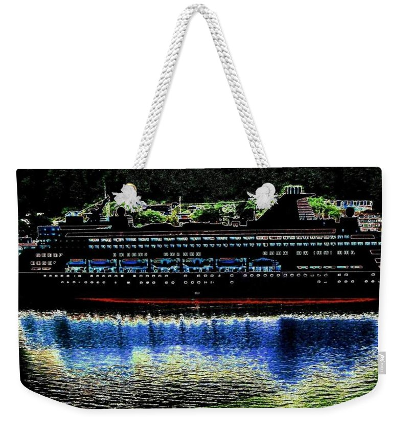 Juneau Weekender Tote Bag featuring the digital art Shipshape 8 by Will Borden