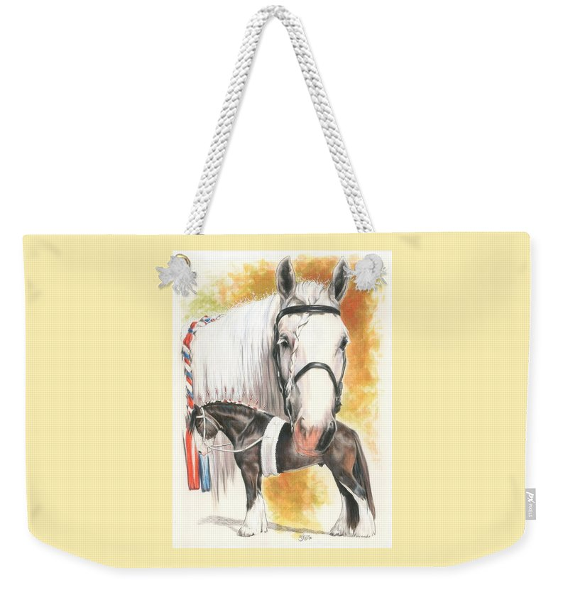 Shire Weekender Tote Bag featuring the mixed media Shire by Barbara Keith