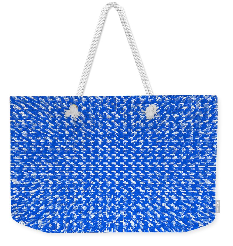 Abstract Weekender Tote Bag featuring the digital art Shock by Candice Danielle Hughes