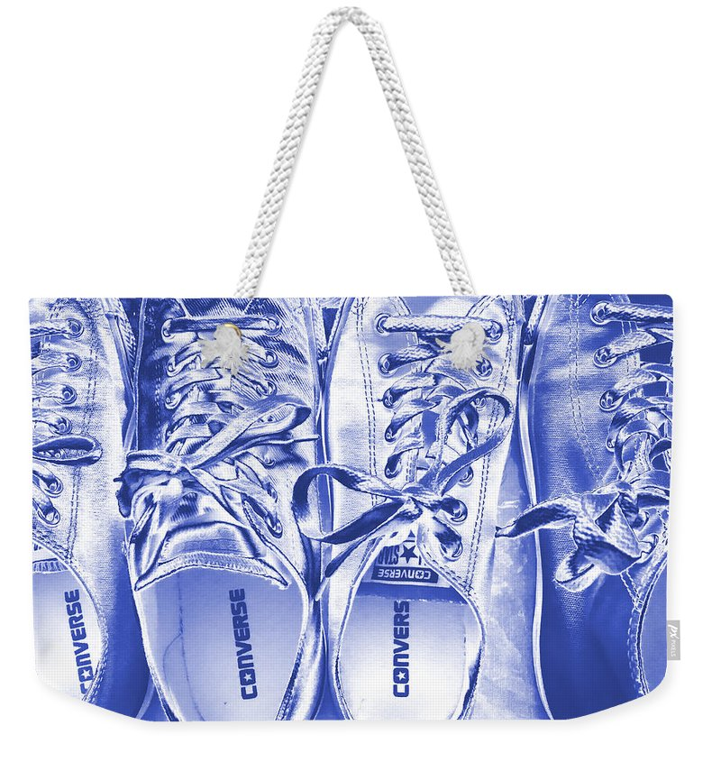 Painterly Iphoneography Weekender Tote Bag featuring the photograph Shoes by Bill Owen