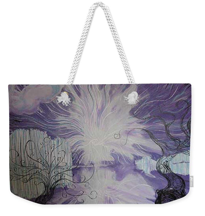 Squiggleism Weekender Tote Bag featuring the painting Shore Dance by Stefan Duncan