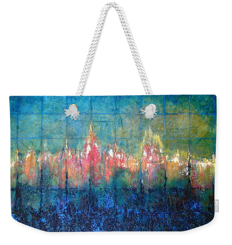Seascape Weekender Tote Bag featuring the painting Shorebound by Shadia Derbyshire