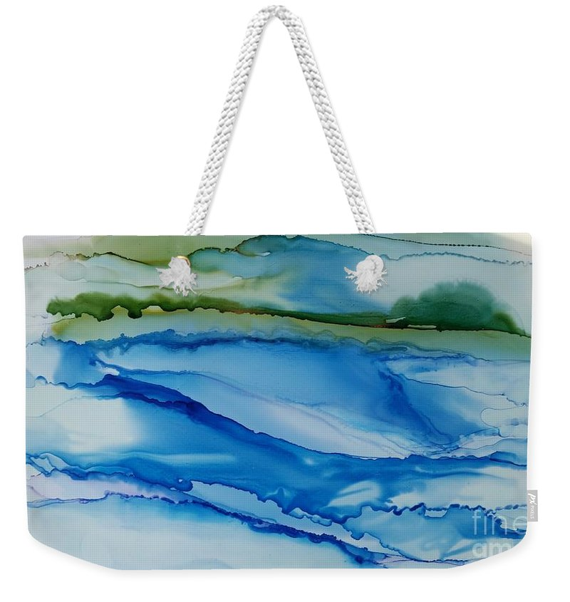 Water Weekender Tote Bag featuring the painting Shoreline by Beth Kluth