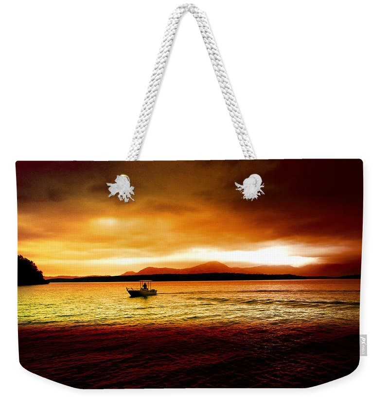 Landscape Weekender Tote Bag featuring the photograph Shores Of The Soul by Holly Kempe