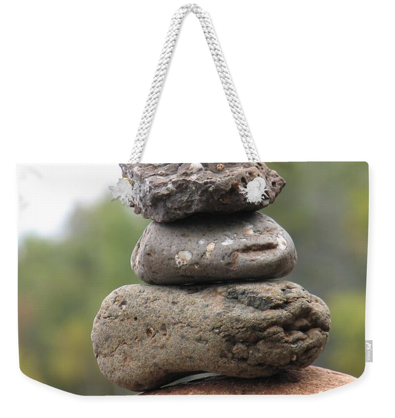 Rocks Weekender Tote Bag featuring the photograph Short Stack by Kelly Mezzapelle