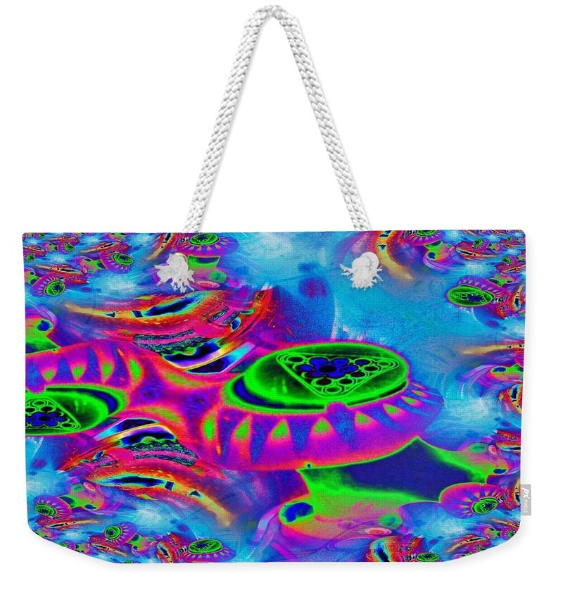 Table Weekender Tote Bag featuring the photograph Shortys by Tim Allen