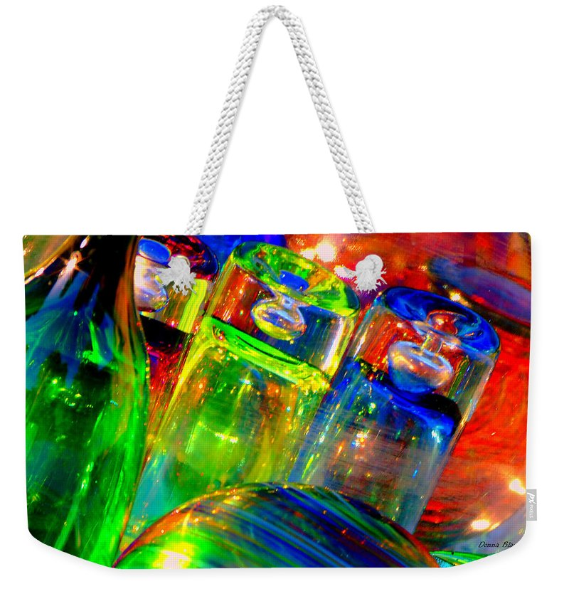 Glass Weekender Tote Bag featuring the photograph Shot Glass by Donna Blackhall