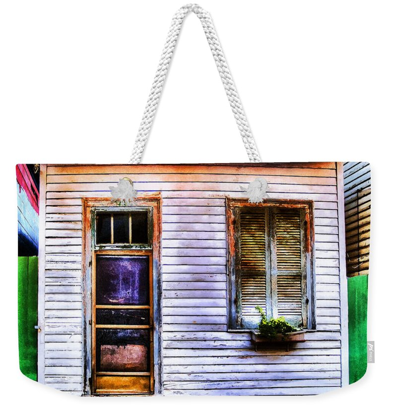Nola Weekender Tote Bag featuring the photograph Shotgun House Number 3 by Tammy Wetzel
