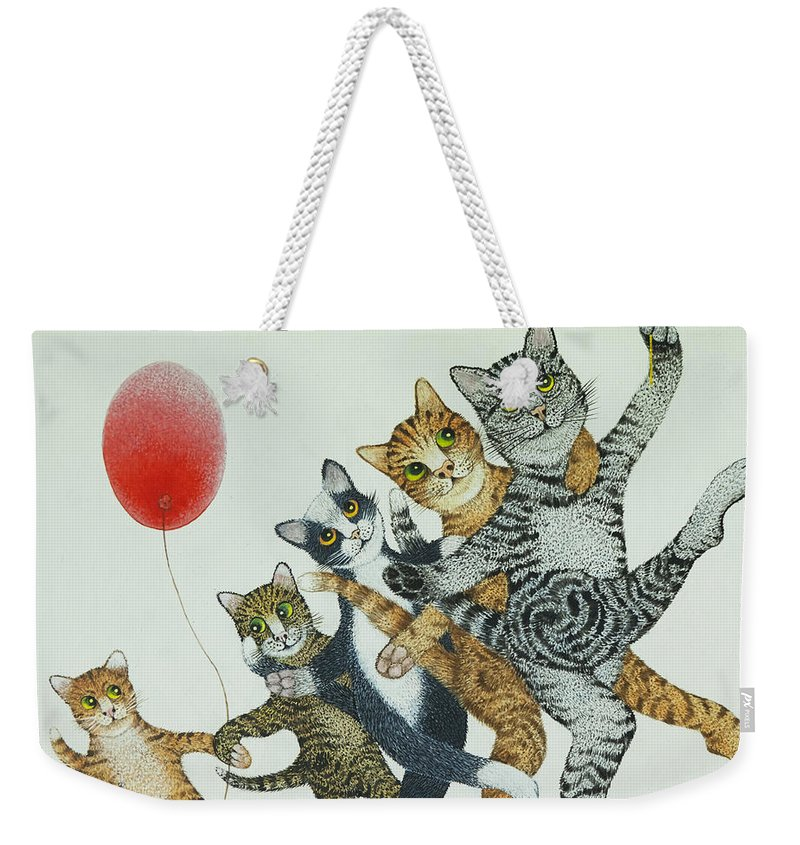 Signed Weekender Tote Bag featuring the painting Show Stoppers by Pat Scott