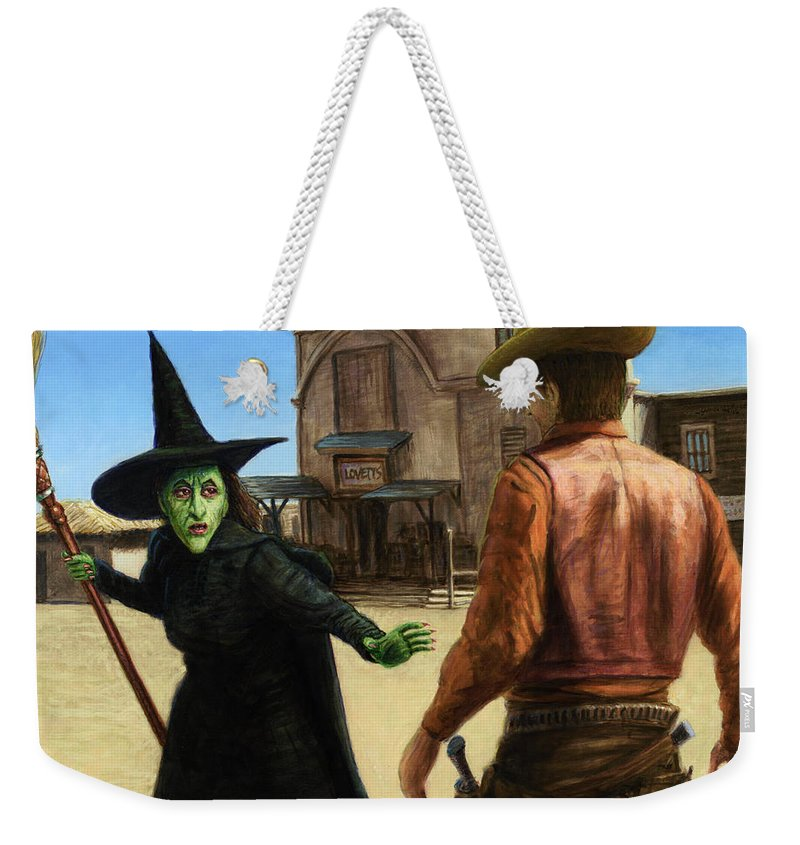 Oz Weekender Tote Bag featuring the painting Showdown by James W Johnson