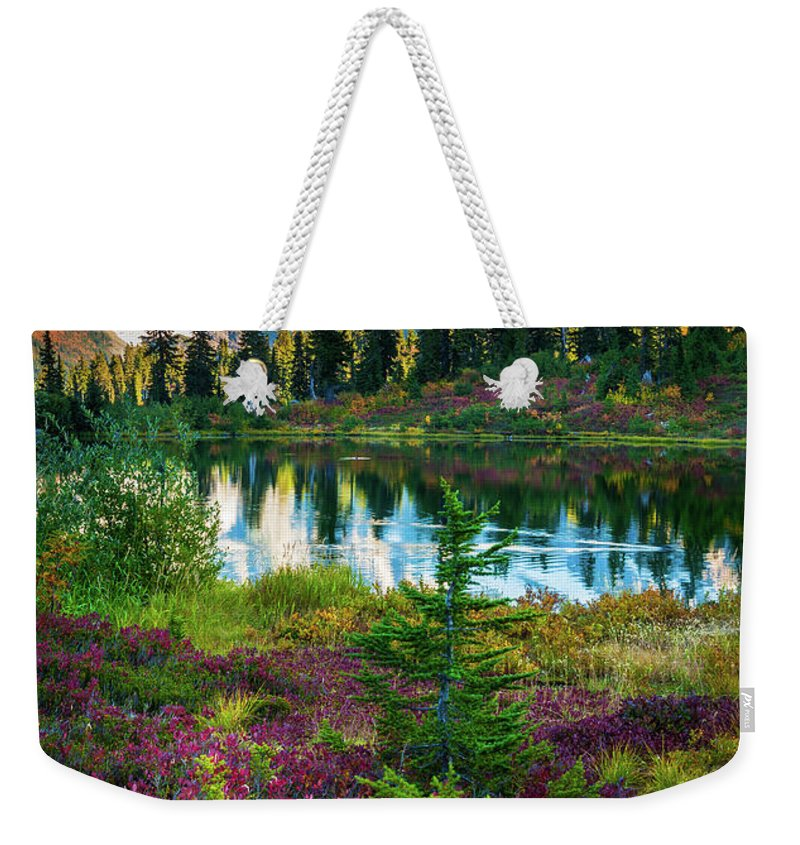 America Weekender Tote Bag featuring the photograph Shuksan Autumn by Inge Johnsson
