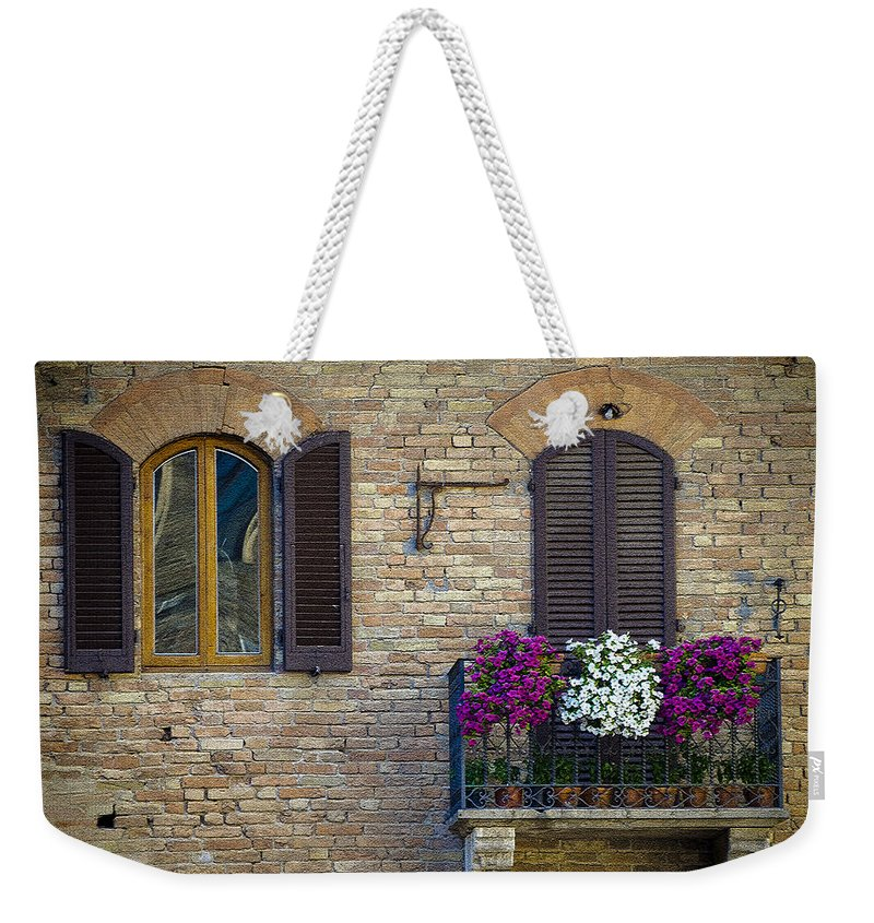 Italy Weekender Tote Bag featuring the photograph Shutters by Gary Lengyel