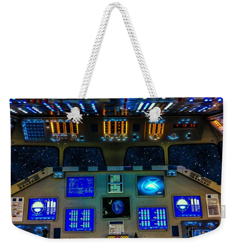 Space Shuttle Clone Weekender Tote Bag featuring the photograph Shuttle Dash by Tommy Anderson