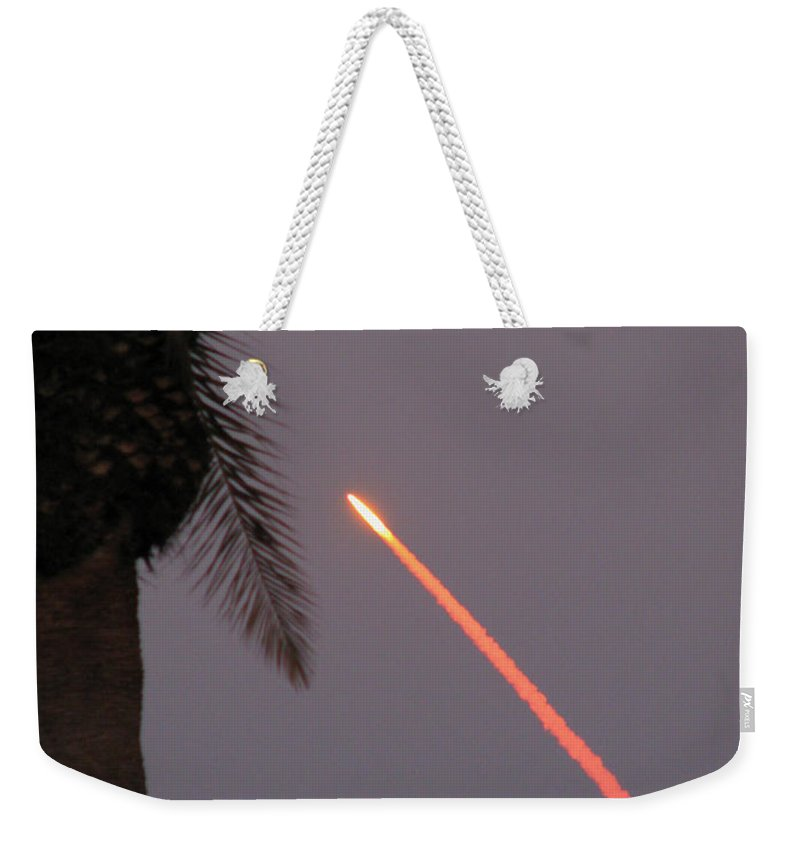 Space Weekender Tote Bag featuring the photograph Shuttle by Peg Urban