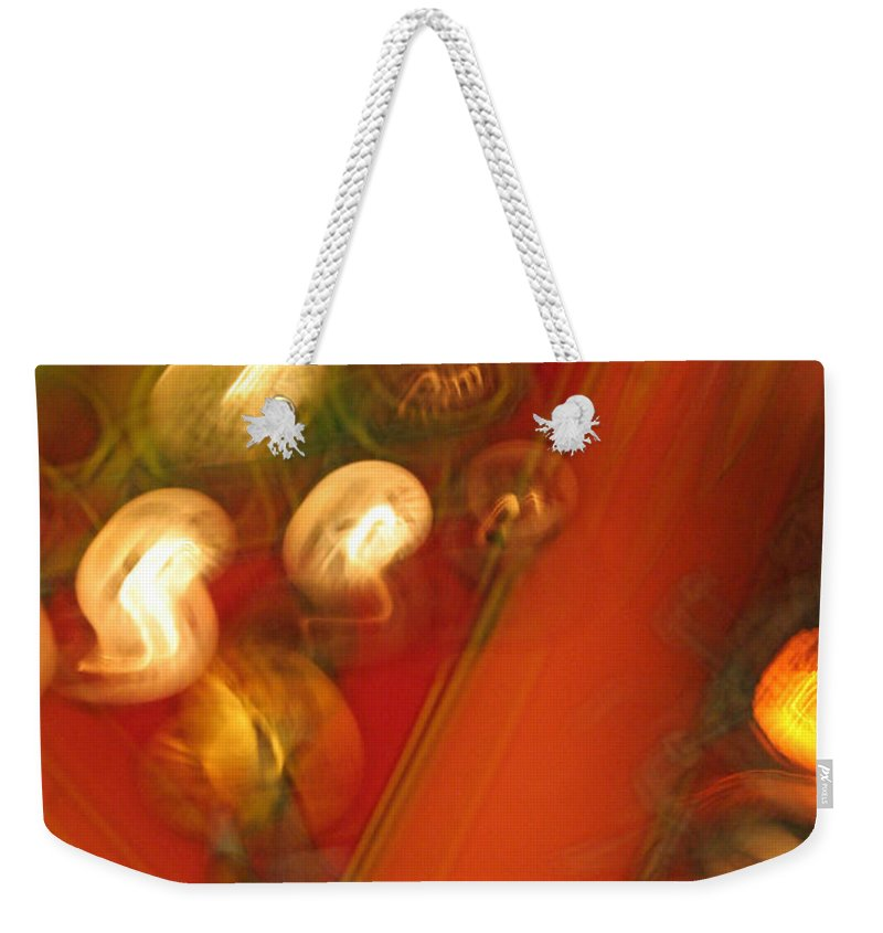 Abstract Weekender Tote Bag featuring the photograph Shwiggle by Ric Bascobert