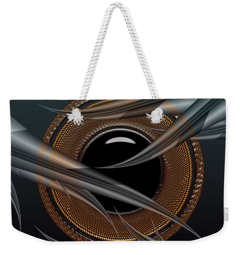 Design Weekender Tote Bag featuring the digital art Shy Away by Robert Orinski