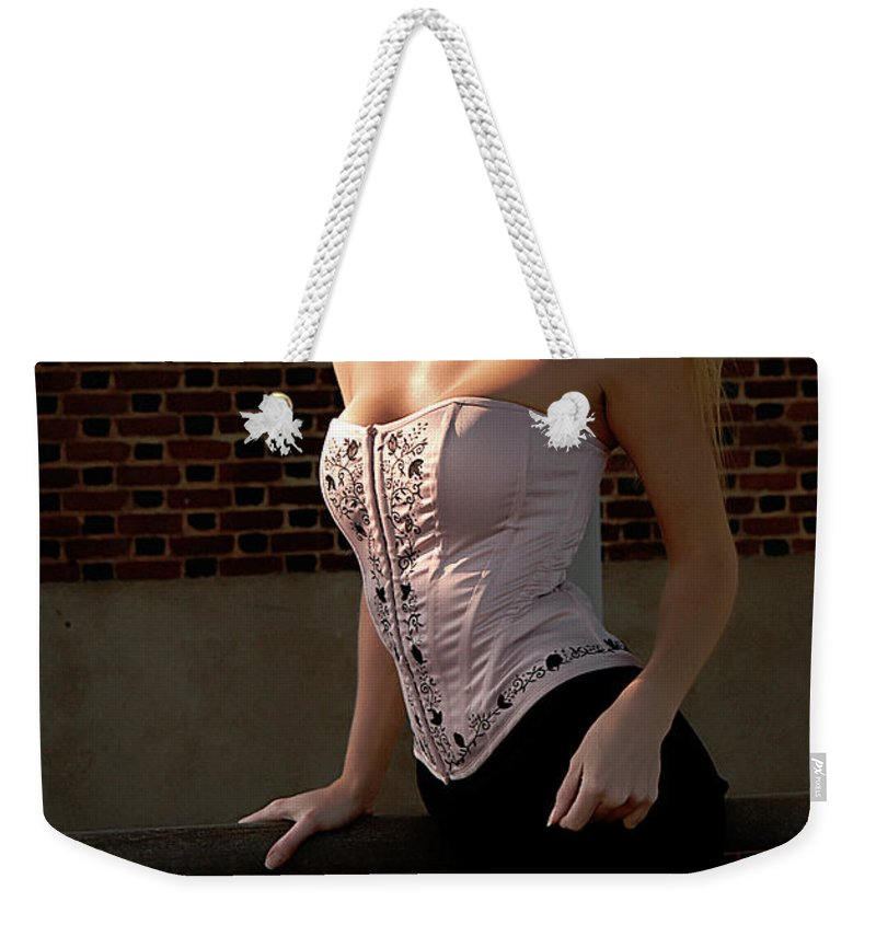 Clay Weekender Tote Bag featuring the photograph Shy by Clayton Bruster