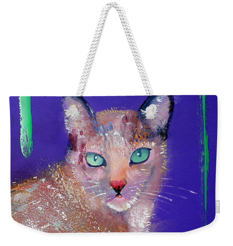Cat Weekender Tote Bag featuring the painting Siamese Cat by Charles Stuart