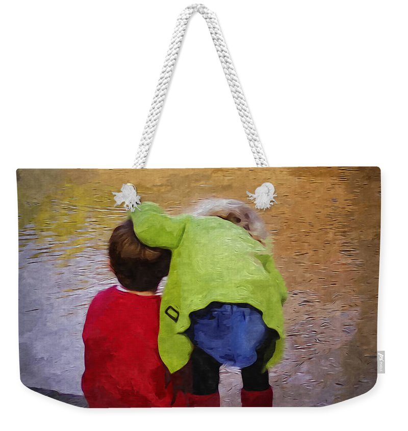 2d Weekender Tote Bag featuring the digital art Sibling Love by Brian Wallace