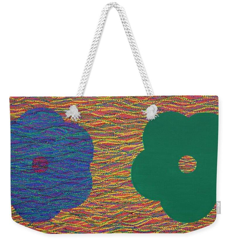 Sibling Weekender Tote Bag featuring the painting Siblings 2 by Kyung Hee Hogg