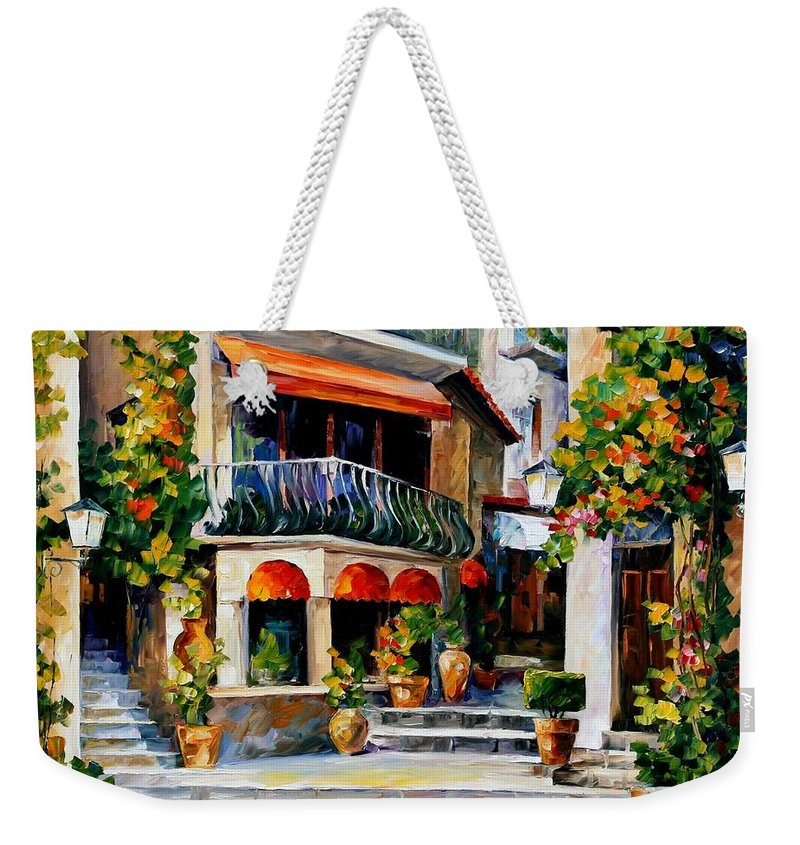 Afremov Weekender Tote Bag featuring the painting Sicily - Spring Morning by Leonid Afremov