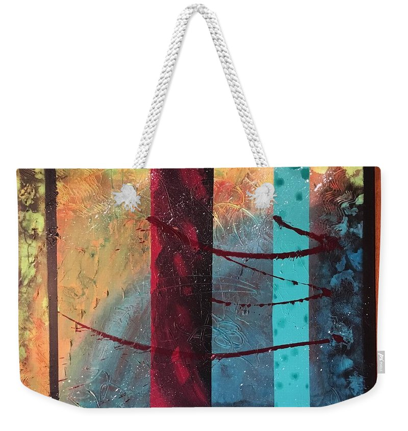Abstract Weekender Tote Bag featuring the painting Sicily by Michael Walters
