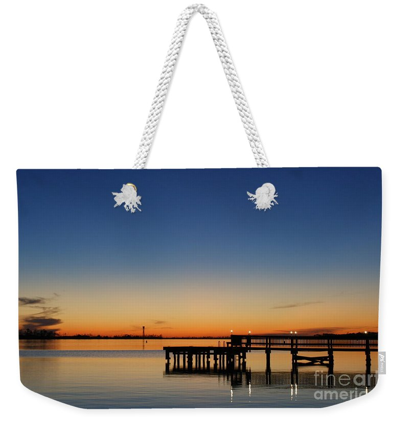 Sound Weekender Tote Bag featuring the photograph Calmer Waters by Jennifer Diaz