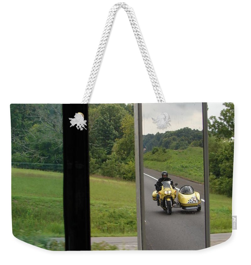 Truck Weekender Tote Bag featuring the photograph Side Car Framed by J R  Seymour