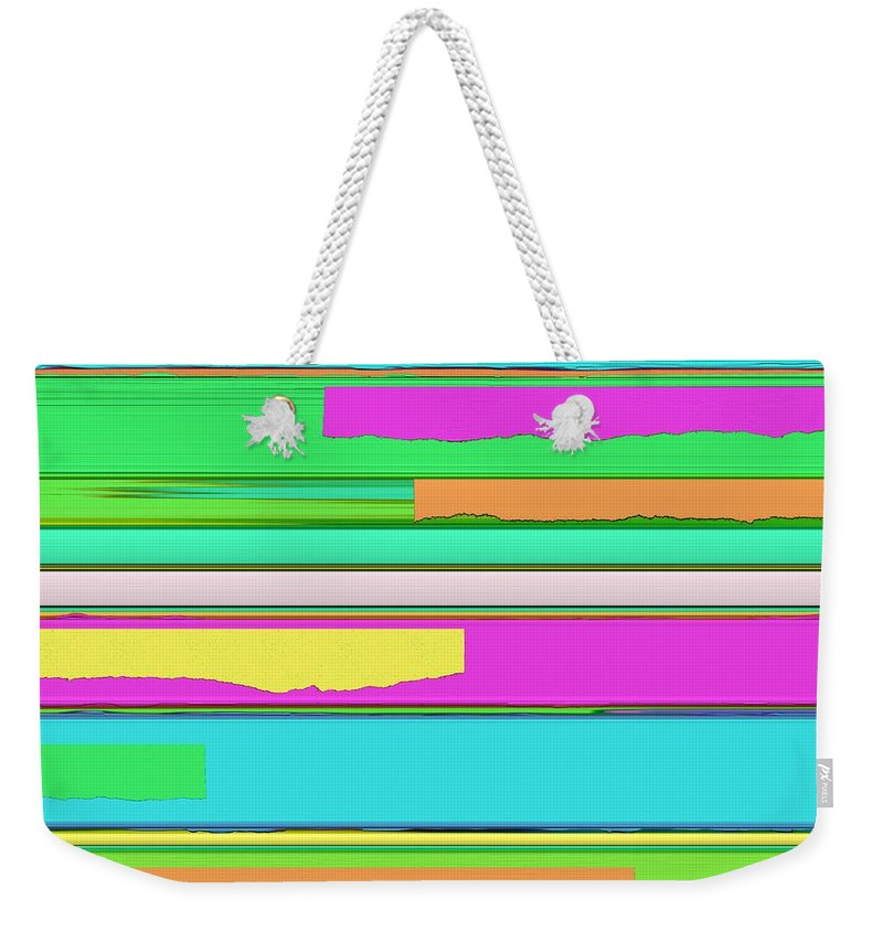 Side Streets Weekender Tote Bag featuring the digital art Side Streets 2 by Keith Mills