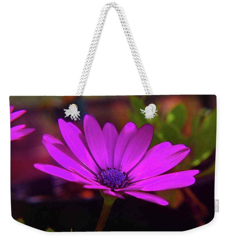 Flowers Weekender Tote Bag featuring the photograph Side View by Jeff Swan