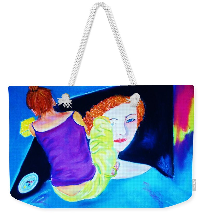 Painting Within A Painting Weekender Tote Bag featuring the print Sidewalk Artist II by Melinda Etzold