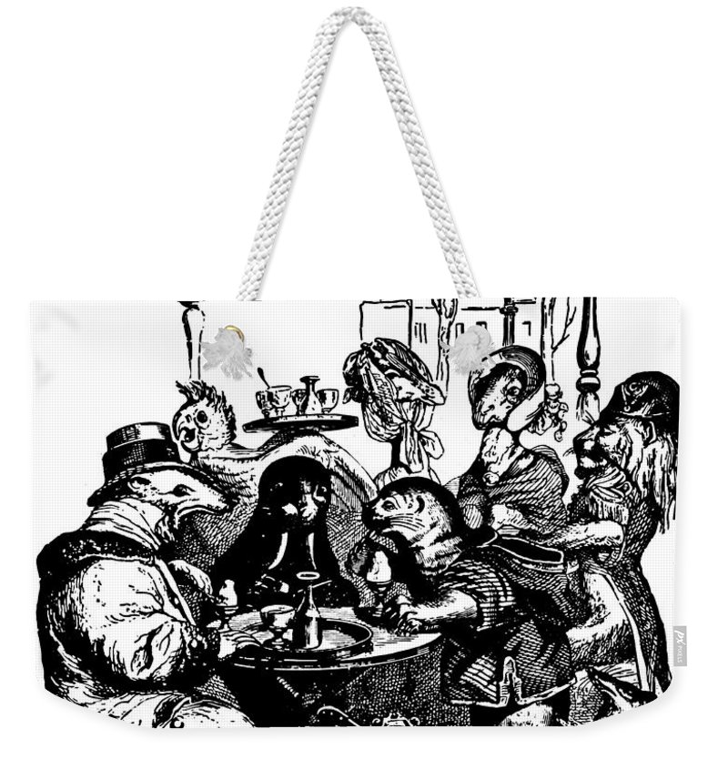 Grandville J.j. Weekender Tote Bag featuring the digital art Sidewalk Cafe Grandville Transparent Background by Barbara St Jean