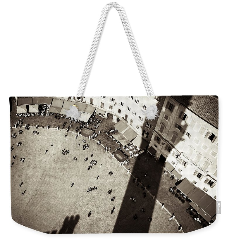 Siena Weekender Tote Bag featuring the photograph Siena From Above by Dave Bowman