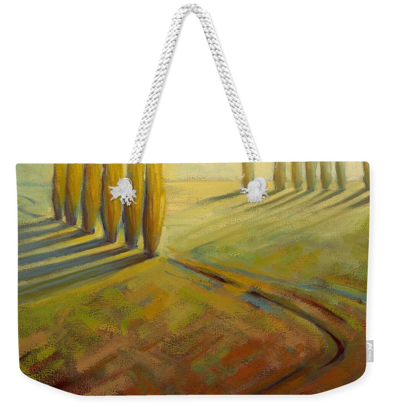Landscape Weekender Tote Bag featuring the painting Sienna by Konnie Kim
