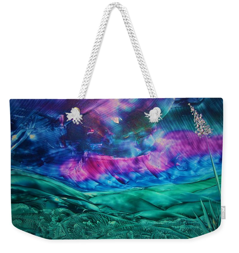 Desert Weekender Tote Bag featuring the print Sierra Vista by Melinda Etzold
