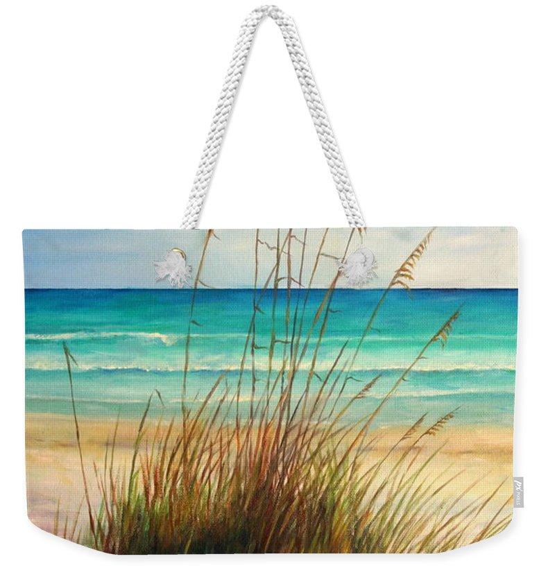 Beach Grass Weekender Tote Bags