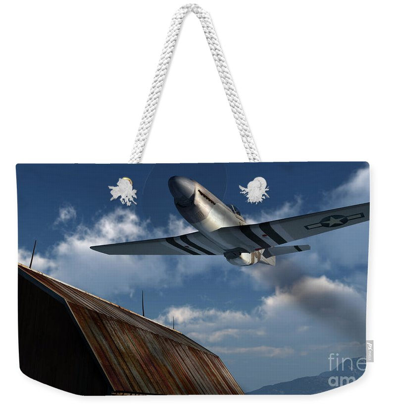 Aviation Weekender Tote Bag featuring the digital art Sightseeing by Richard Rizzo